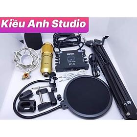 Combo mic thu âm livstream BM 900 và suondcard K10 cực đỉnh
