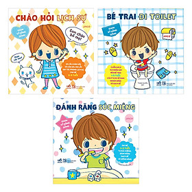 Combo 3 Quyển Ehon Nhật Bản - Ehon Kỹ Năng Sống Cho Bé Trai