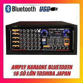 Amply Bluetooth Karaoke ATANNOII PRO-9800D - Tích Hợp Lọc Xì - 16 Sò lớn - 8 cổng Micro - Hàng chính hãng