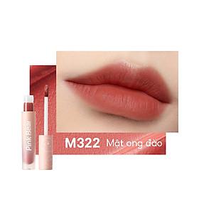 Son Kem Pink Bear Butter Cream Tint Velvet Matte Lip Long-lasting Hydrating High coverage 8 Shades 2.5g
