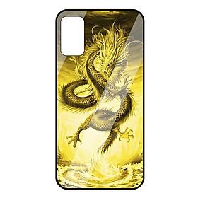 Ốp lưng Vina Case dành cho OPPO Reno 4 rồng vàng mặt kính 9H - Hàng chính hãng