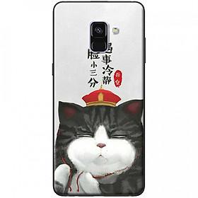 Ốp lưng dành cho Samsung Galaxy A8 (2018) mẫu Mèo đa nghi