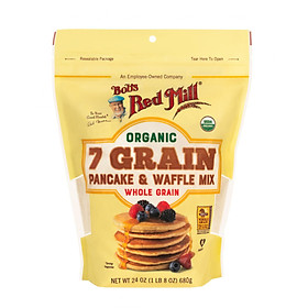 Bột 7 loại hạt nguyên cám hữu cơ làm bánh pancake, waffle Bob's Red Mill 680g