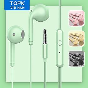 Tai nghe nhét tai TOPK F17 âm thanh nổi bass nặng có dây AUX 3.5mm dùng cho OPPO Vivo HUAWEI Xiaomi Samsung - Hàng nhập khẩu