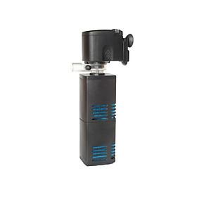 Máy lọc bể cá RS-3003, máy lọc chìm gắn thành bể 2 bầu lọc vuông (20W 1750L/H)