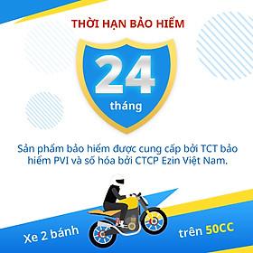 [E-Voucher] Bảo Hiểm Bắt Buộc Trách Nhiệm Dân Sự EZIN- Xe Mô Tô 2 Bánh Trên 50cc - Gói 24 Tháng