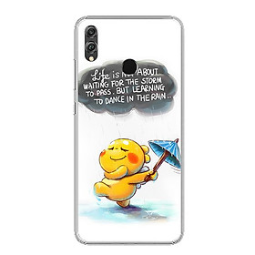 Ốp lưng dẻo cho Honor 8X - 0009 RAIN01 - Hàng Chính Hãng
