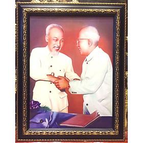 Tranh in Bác Hồ Bác Tôn - 38x48