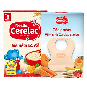 Bột Ăn Dặm Nestle Cerelac - Gà Hầm Cà Rốt (200g) Tặng Kèm Yếm Ăn Cho Bé