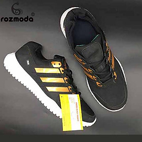Giày Thể Thao Sneaker Nam Nữ (Trắng Sọc Bạc)