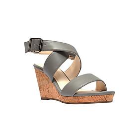 Giày Sandal Xuồng Nữ Quai Bản Lớn Sulily SW2-II18XAM