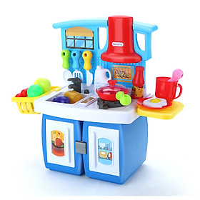 Beiens (beiens) early education educational toys children simulation play house change kitchen set boy girl toy B141 blue