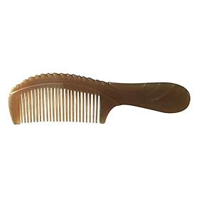 Lược Chải Tóc Sừng Trâu Cao Cấp L38 Chuôi Khứa (Dài 16,5cm x ,5cm)