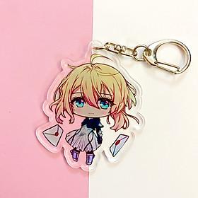 ( Mica trong acrylic ) Móc khóa VIOLET EVERGARDEN - Búp Bê Kí Ức quà tặng xinh xắn dễ thương in hình anime chibi