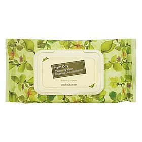 The Face Shop Herb Day Cleansing Tissue 70 Wipes