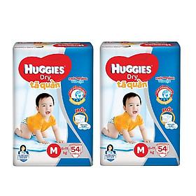 2 Gói Tã Quần Huggies Dry Gói Đại M54 (54 Miếng) - Bao Bì Mới