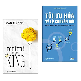 Combo 2 cuốn sách hay nhất về Marketing - Bán hàng: Tối Ưu Hóa Tỷ Lệ Chuyển Đổi + Content Đúng Là King ( Tặng kèm Bookmark Thiết Kế)