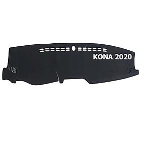Thảm da Taplo vân Carbon Cao cấp dành cho xe Hyundai Kona 2020 có khắc chữ Hyundai Kona và cắt bằng máy lazer