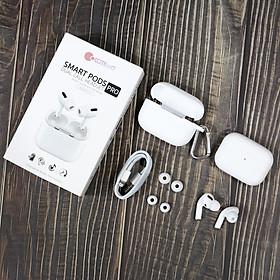 Tai nghe bluetooth thông minh trang bị hộp sạc không dây hiệu COTEETCI SmartPod Pro CS5195 (trang bị Bluetooth 5.0, âm thanh Hifi, DUAL CALL HEADSET) - Hàng nhập khẩu