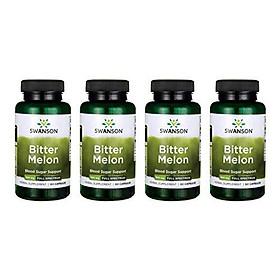 Swanson Bitter Melon 500 mg 60 Caps 4 Pack