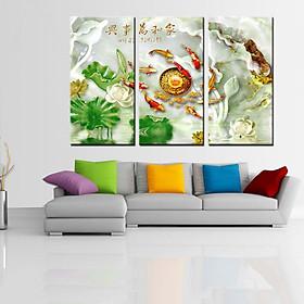 Tranh Canvas treo tường nghệ thuật | Tranh bộ nghệ thuật 3 bức | HLB_031