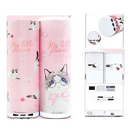 Hộp bút hiện đại thông minh có mật khẩu xoay số in hình Mèo công chúa