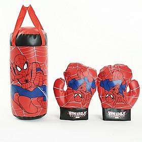 Bộ dụng cụ tập Boxing kèm 2 găng tay cho bé- Bộ đấm bốc trẻ em kèm găng tay, giao mẫu ngẫu nhiên+ Tặng kèm hình dán như hình ngẫu nhiên