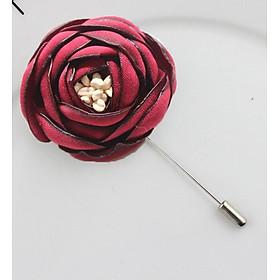 Cài áo thời trang hoa lụa sang trọng nhiều mầu(GC12)