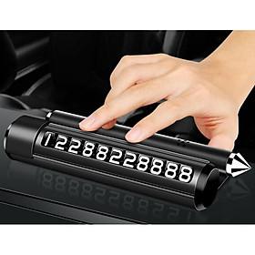 Bảng ghi số điện thoại cho ô tô có chức năng phá kính thoát hiểm kiêm giá đỡ điện thoại tiện dụng