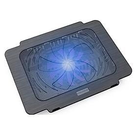 Quạt Tản Nhiệt, Đế Tản Nhiệt Laptop Có Đèn PKCB PF89 - Hàng Chính Hãng