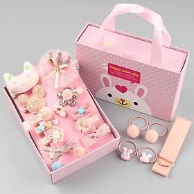 Hộp kẹp tóc cho bé - Màu cam (Quà tặng đáng yêu cho bé gái) - kèm hộp có quai xách