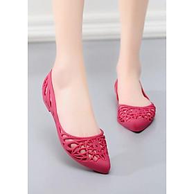 Giày búp bê đi mưa nữ hoa văn độc đáo , chất liệu nhựa cao cấp không trơn trợt 9600302