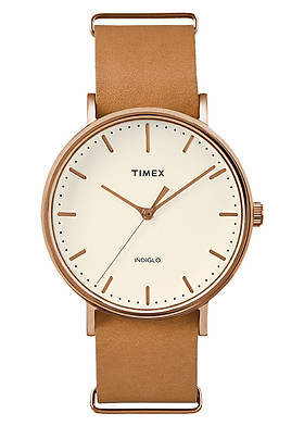 Đồng Hồ Unisex Dây Da Timex Weekender Fairfield TW2P91200