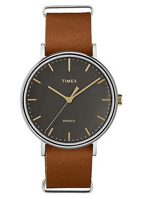 Đồng Hồ Unisex Dây Da Timex Fairfield TW2P97900
