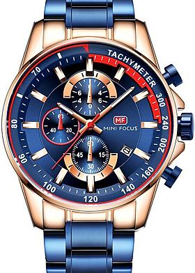 Đồng hồ đeo tay chống nước dây thép không gỉ dành cho nam MINI FOCUS MF0218G