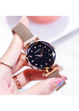 Đồng hồ nữ dây kim loại Aborni Thạch Anh