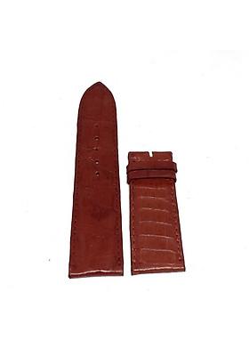 Dây đồng hồ nam nữ Huy Hoàng da cá sấu 2 mặt da size lớn màu nâu đỏ HT8284