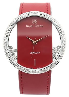 Đồng Hồ Nữ Dây Da Royal Crown 6110ST-R (36mm) - Đỏ