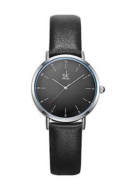 Đồng hồ nữ chính hãng Shengke K8066L-01 Đen mặt đen