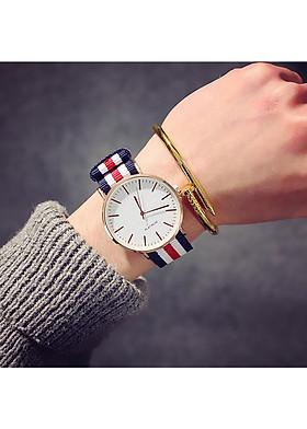 Đồng hồ thời trang nam nữ dây nato màu sắc trẻ trung đầy cá tính DH65