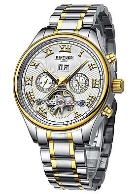 Đồng hồ cơ nam Kinyued - trắng vàng