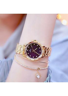 Đồng hồ nữ BS cao cấp dây thép đặc không gỉ cầm nặng tay sang trọng quý phái