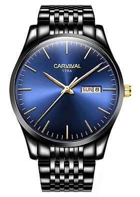 Đồng hồ nam Carvival Dây Thép Không Gỉ Cao Cấp Sang Trọng