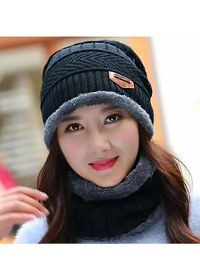 Hình ảnh khăn choàng nữ kèm Mũ nón len nữ dn19111602