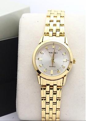 Đồng Hồ Nữ Halei mã 502 dây vàng thời trang