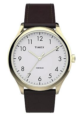 Đồng Hồ Nam Dây Da Timex Easy Reader 40mm Leather Strap Watch TW2T71600 - Màu Nâu
