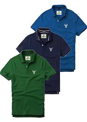 Bộ 3 Áo thun Polo Nam PiGo PG01 (Công, rêu, xanh đen)