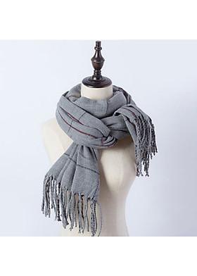 Hình ảnh Khăn choàng khăn len quàng cổ cho nữ LB18-Xám