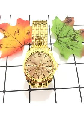 Đồng hồ đeo tay thời trang nam nữ unisex dây vàng hợp kim sang trọng ZO59