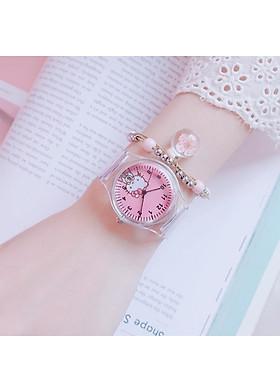 Đồng hồ thời trang nữ siêu xinh DH79 dây trong suốt